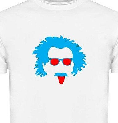ST101 - Camiseta - Estampa Einstein em recorte a Laser