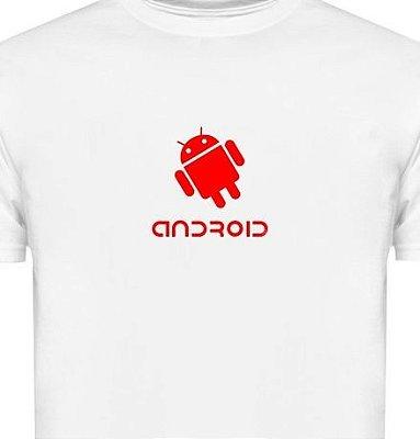 ST109 - Camiseta - Estampa Android em Recorte Laser