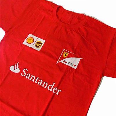 FR075 - Camiseta Estampa - Equipe FERRARI F1
