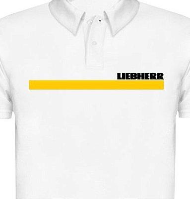 FR055 - Camisa Polo Piquet - Estampa LIEBHERR