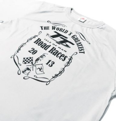 ES050 - Camiseta Dry Fit - TT ISLE OF MAN - cor: BRANCA