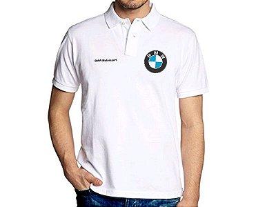 FR038 - Camisa POLO Piquet - BMW MOTORSPORT - branca