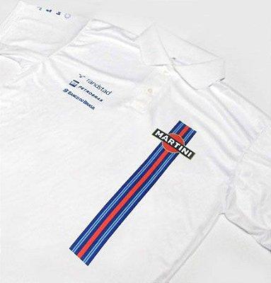 ES066 - Camisa Pólo Dry Fit - Estampa MARTINI WILLIAMS F1