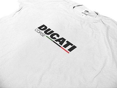 FR009 - Camiseta DUCATI CORSE - MOTO GP - branca