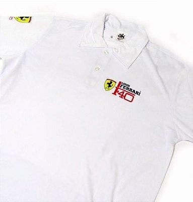 MK023 - Camisa Pólo Dry Fit - Estampa Luigi Ferrari F40