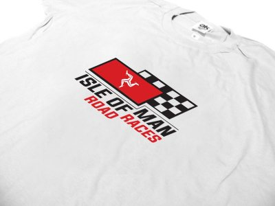 FR184 - Camiseta TT ISLE OF MAN - BAND ROAD RACES