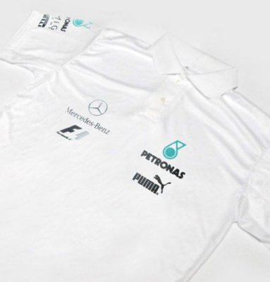ES104 - Camisa Polo Dry Fit - Estampa Mercedes Petronas