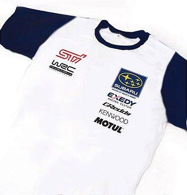 ES114 - Camiseta Bicolor Dry Fit - Estampa SUBARU WRC