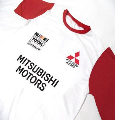 ES117 - Camiseta Bicolor Dry Fit - Mitsubishi TOTAL