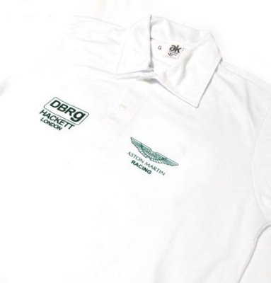 ES124 - Camisa Pólo Dry Fit - Estampa ASTON MARTIN RACING TEAM