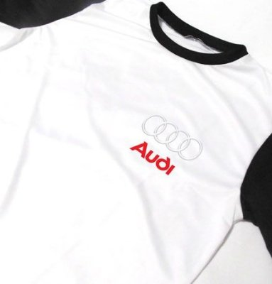MK045 - Camiseta Bicolor Dry Fit - Estampa AUDI SPORT