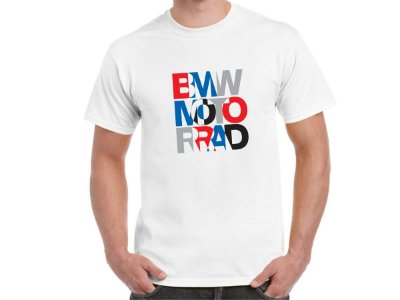 FR198 - Camiseta - BMW MOTORRAD VIRTUAL COLOR - Estampa FRONTAL