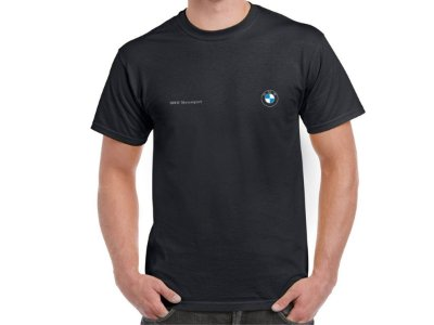 FR199 - Camiseta BMW MOTORSPORT - Logo prata - Estampa FRONTAL