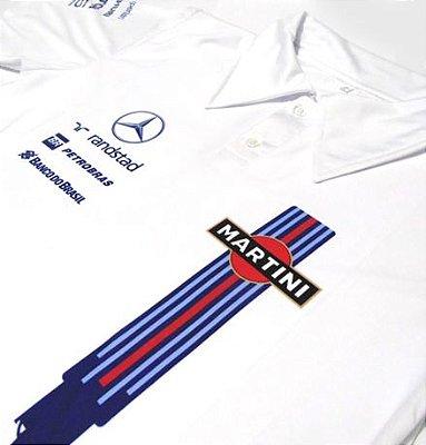 ES142 - Camisa Pólo Dry Fit - Estampa Martini WILLIAMS F1 - carro