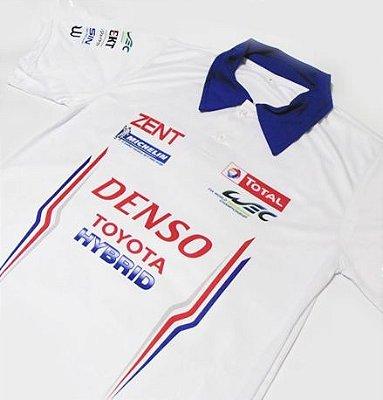 ES146 - Camisa Pólo Dry Fit - Estampa WEC TOYOTA HYBRID TEAM