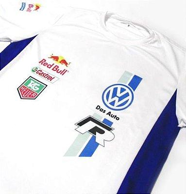 ES153 - Camiseta Bicolor Dry Fit - Volkswagen Pólo Racing WRC