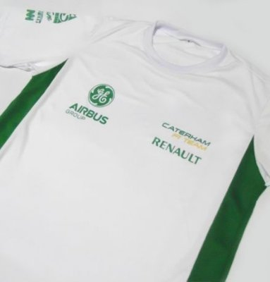 ES157 - Camiseta Bicolor Dri fit - Estampa Caterham - F1 team