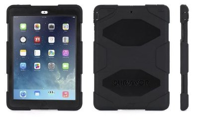 Capa Griffin Survivor All Terrain para iPad Air - Preto