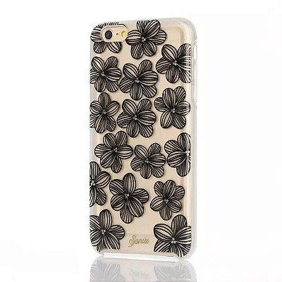 Capa Sonix para iPhone 6/6S Flores Pretas