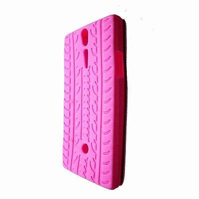 Capa Case Pneu para Sony Xperia S ( LT26i ) - Rosa