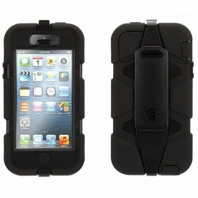 Capa Griffin Survivor para iPhone 5 / 5S / SE - Preto