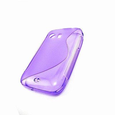 Capa Case Samsung Galaxy Y S5360 de TPU Roxo