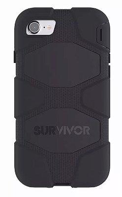 Capa Griffin Survivor All Terrain para iPhone 7 Plus - Preto