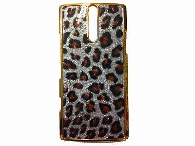 Capa Case Sony Xperia S LT26i Onça Oncinha Glitter Prateada