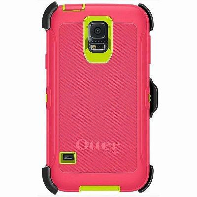 Capa Otterbox Defender para Samsung Galaxy S5 Rosa e Verde