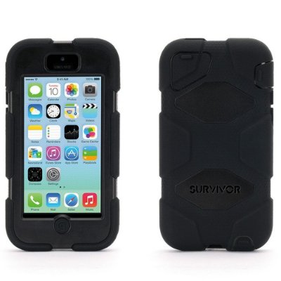 Capa Griffin Survivor para iPhone 5C - Preto
