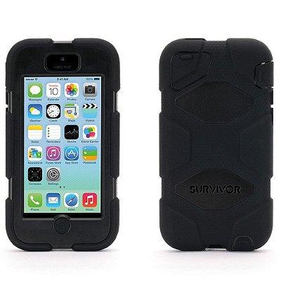 Capa Griffin Survivor para iPhone 5C - Preto