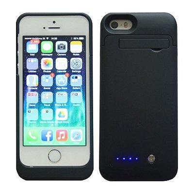 Capa Bateria 1200 mAh para iPhone 5 / 5C / 5S - Preto .