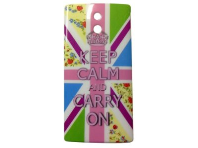 Capa Case Sony Xperia P keep Calm AND Carry ON .