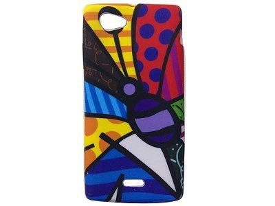 Capa Case Sony Xperia J Romero Britto Butterfly .