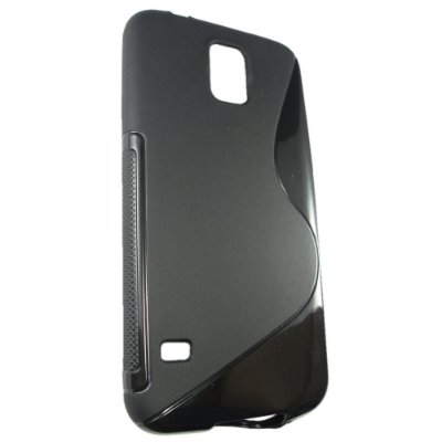 Capa Case S Type para Samsung Galaxy S5 de TPU Preta .