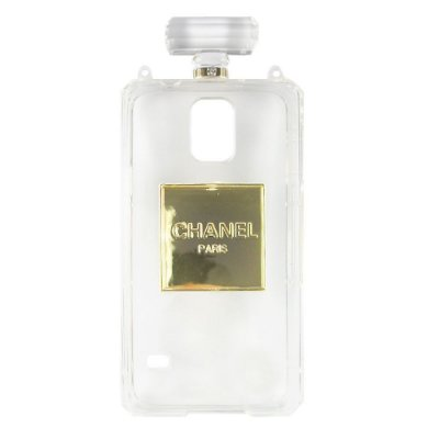 Capa Chanel No.5 Perfume Bottle para  Galaxy S5 Transparente .