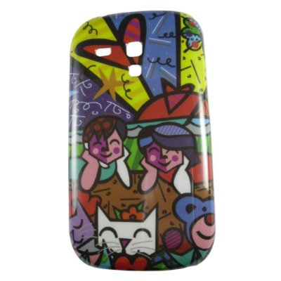 Capa Romero Britto Brothers and Cats para Galaxy S3 mini