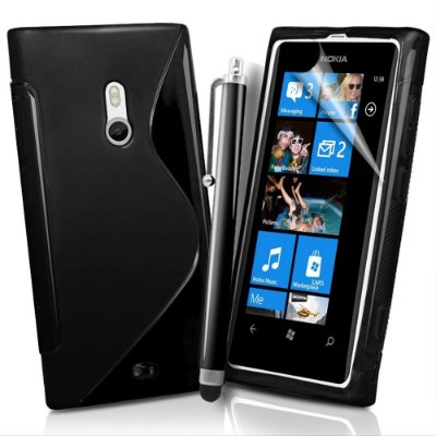Capa de TPU Preto para Nokia Lumia 800