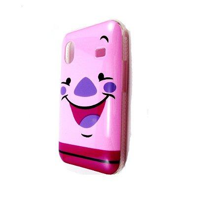 Capa Case para Samsung Galaxy Ace ( S5830) Disney Ursinho Puff  / Leitão