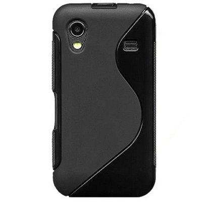 Capa Case S Type para Samsung Galaxy Ace ( S5830)  TPU Preto