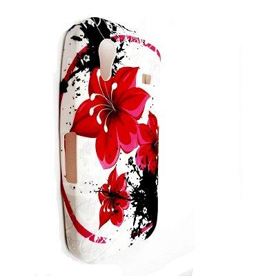 Capa Case Flores para Samsung Galaxy Ace ( S5830) - TPU
