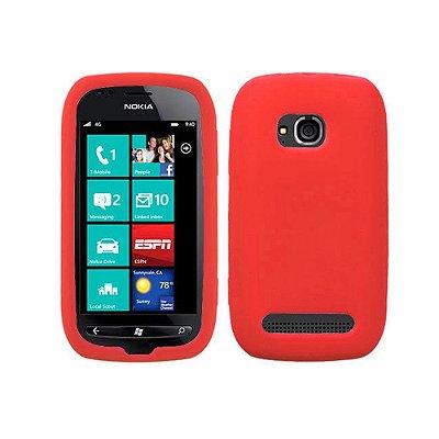 Capas de Silicone Vermelho para Nokia Lumia 710