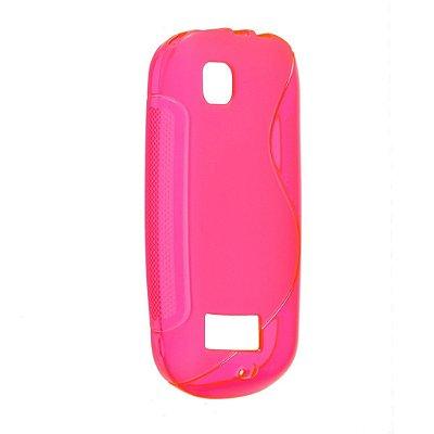 Capa S Type para Nolia Asha 200 / 201 de TPU Pink