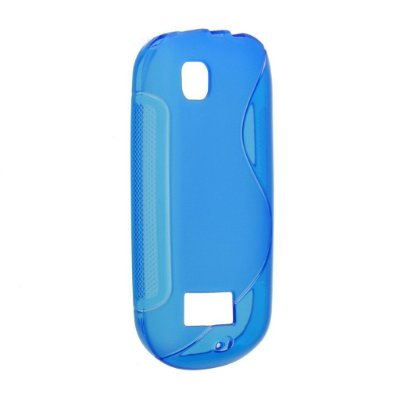 Capa S Type para Nolia Asha 200 / 201 de TPU Azul