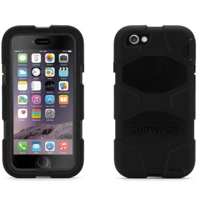Capa Griffin Survivor All Terrain para iPhone 6 - Preto