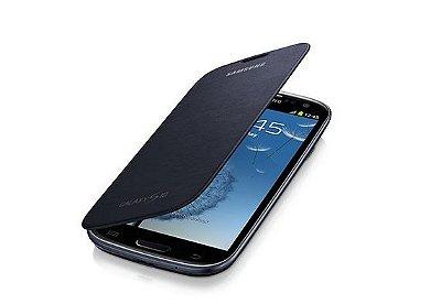 Capa Case para Samsung Galaxy S3 Flip Cover - Preto