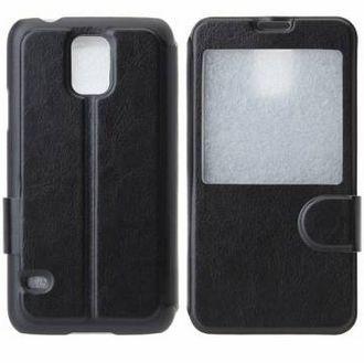 Capa Case Flip de Couro para Samsung Galaxy S5 - Preto