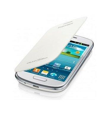 Capa Case para Samsung Galaxy S3 Mini Flip Cover - Branco