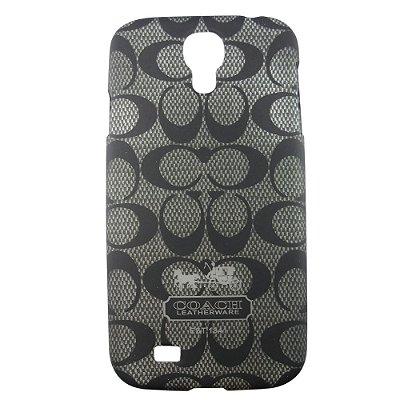 Capa Case Coach Monogram Preto para Samsung Galaxy S4