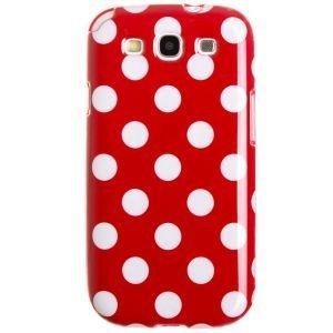Capa Case Poá Bolinhas Vermelho e Branco para Samsung Galaxy S3